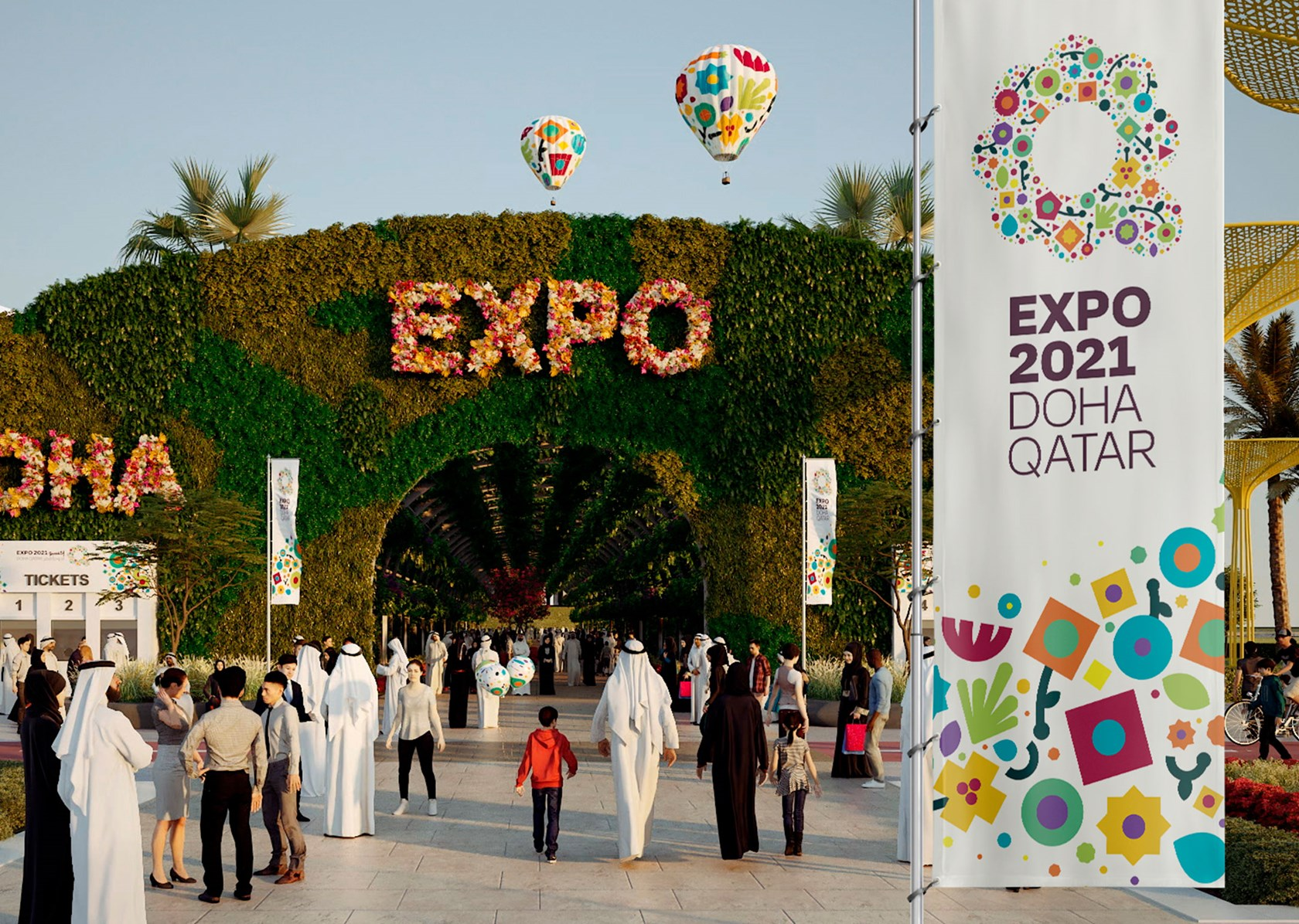 EXPO 2021 Doha Qatar - Green Desert, Better Environment